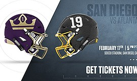 Promotional graphic for the game - San Diego Fleet vs. At...