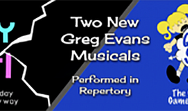 Promo graphic for Patio Playhouse Greg Evans Repertory
