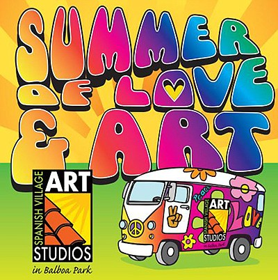 Promotional graphic for Summer of Love & Art. Courtesy of...