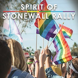Promotional graphic for Spirit of Stonewall rally. Courte...
