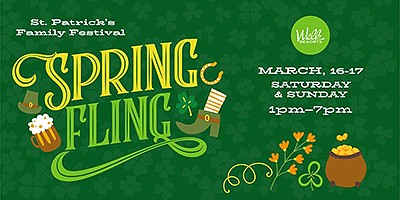 Promotional graphic for Spring Fling - St. Patrick's Fami...