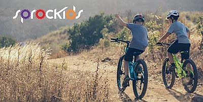Promotional graphic for Sprockids Father's Day bike ride ...