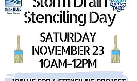 Promo graphic for Storm Drain Stenciling Day