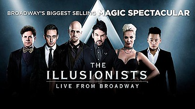 Promotional graphic for The Illusionists.