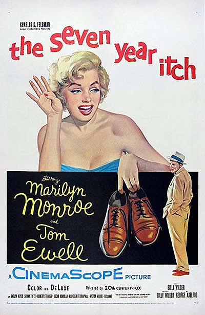 """Promotional film poster for """"The Seven Year Itch"""". Courte..."""