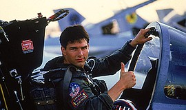 "Promotional still photo from the movie ""Top Gun"". Courtes..."