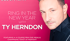 Promotional graphic for Ring In the New Year with Ty Hern...