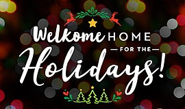 Promo graphic for 'Welkome Home For The Holidays'