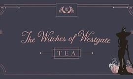 Promotional graphic for Witches' Of Westgate Tea