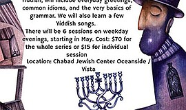 Promo graphic for Yiddish For Beginners Classes - Ocean...