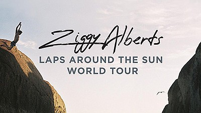 Promotional graphic for Ziggy Alberts' album tour: Laps A...