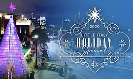 Promotional graphic for Little Italy Holiday Special. Cou...
