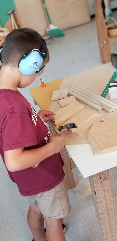 Promotional photo for Woodworking For Kids 10-12yrs. Cour...