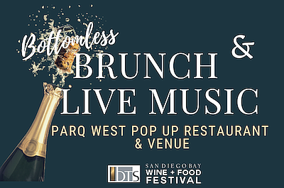 Promotional Graphic for Bottomless Brunch & Live Music. C...