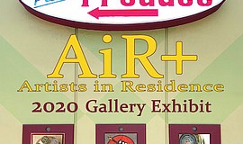 Promo graphic for 2020 AiR+ Exhibit At Art Produce