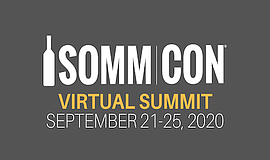 Promo graphic for SommCon's Virtual Wine Summit