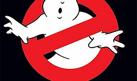 """Promotional graphic for """"Ghostbusters"""" movie poster. Cour..."""