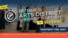 Promotional graphic or First Friday courtesy of Arts District Liberty Station