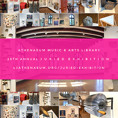 Promotional graphic for the Free Open Call For Juried Exh...