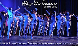 Promotional graphic for Why We Dance - Collage 2020. Cour...