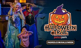 Promo graphic for Halloween Trail At Petco Park