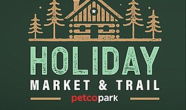 Promotional graphic for The Holiday Market and Trail At P...