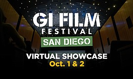 Graphic logo for the GI Film Festival San Diego