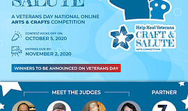 Promo graphic for Craft And Salute: Online Arts & Craft...