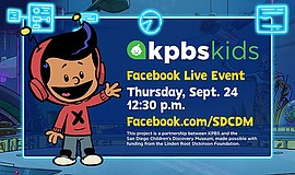 Promo graphic for KPBS Kids: Xavier Riddle