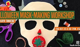 Promotional photo for Halloween Mask Making Workshop with...