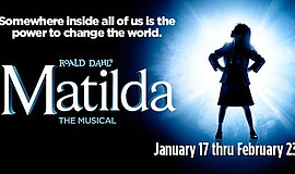 Promo graphic for 'Matilda'
