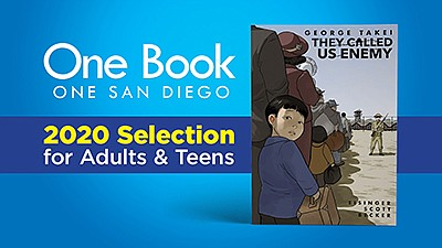 Graphic cover for the 2020 One Book, One San Diego select...