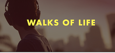 "Promotional graphic for ""Walks of Life"" podcast. Courtesy..."