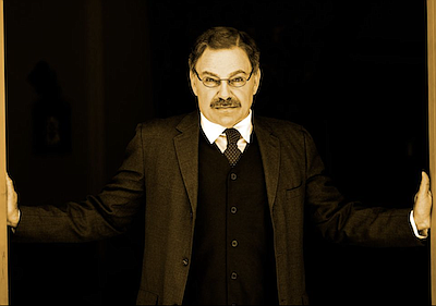 Promotional photo of Phil Johnson as Theodore Roosevelt. ...