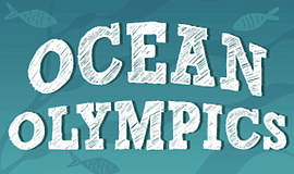 Promo graphic for Ocean Olympics Virtual After School P...