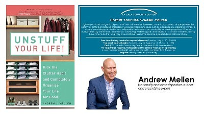 Promotional graphic for Unstuff Your Life. Courtesy of La...