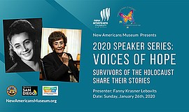 Promo graphic for Voices Of Hope: Survivors Of The Holo...