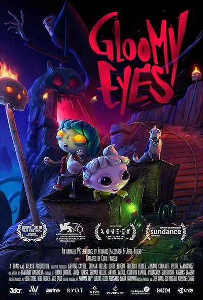 """Promotional graphic for """"Gloomy Eyes"""" movie poster. Court..."""