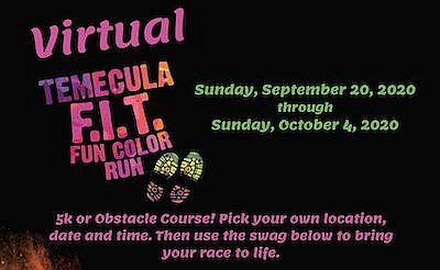 Promotional graphic for Virtual FIT Color Run. Courtesy o...