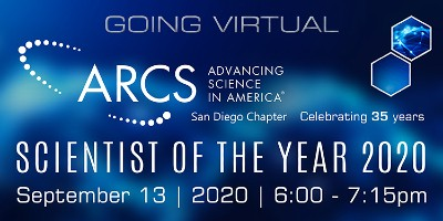 ARCS San Diego 2020 Scientist Of The Year Virtual Event - September 13, 2020  | KPBS