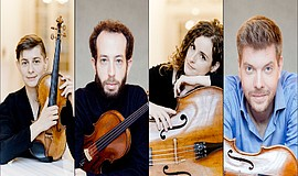 Promotional graphic of Ariel String Quartet, courtesy of ...