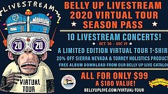 Promotional graphic for Belly Up Livestream 2020 Virtual Tour. Courtesy of Be...