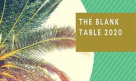 Promo graphic for The Blank Table