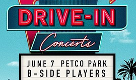 Promo graphic for Feed the Need Drive-In Concert: B-Sid...
