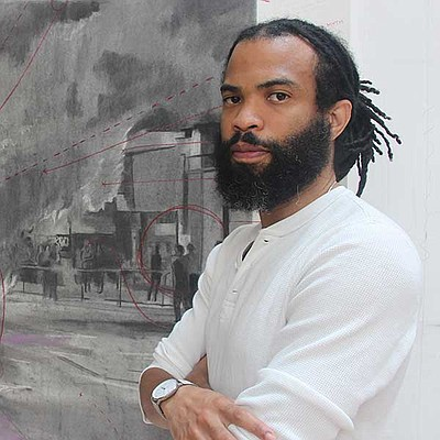 Photograph of artist Cosmo Whyte courtesy of Lux Art Inst...
