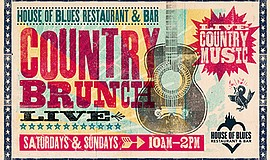 Promo graphic for Country Brunch Live: The Sickstring O...
