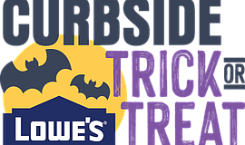 Promo graphic for Lowe's Curbside Trick-Or-Treat