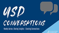 Promotional graphic for USD Conversations: What Is