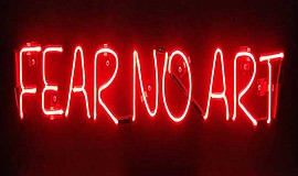 """Promotional graphic for the Central Library's """"FEAR NO AR..."""