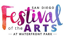 Promotional graphic for the San Diego Festival of the Art...